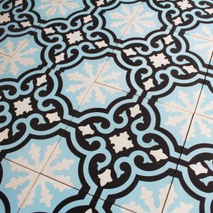 Carreau ciment Blue Baroque