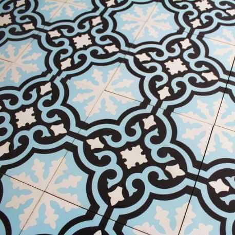 Carreau ciment Blue Baroque