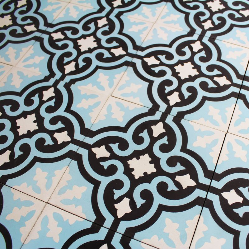 Carreau ciment blue baroque carrelage ciment for Carrelage exterieur carreau ciment
