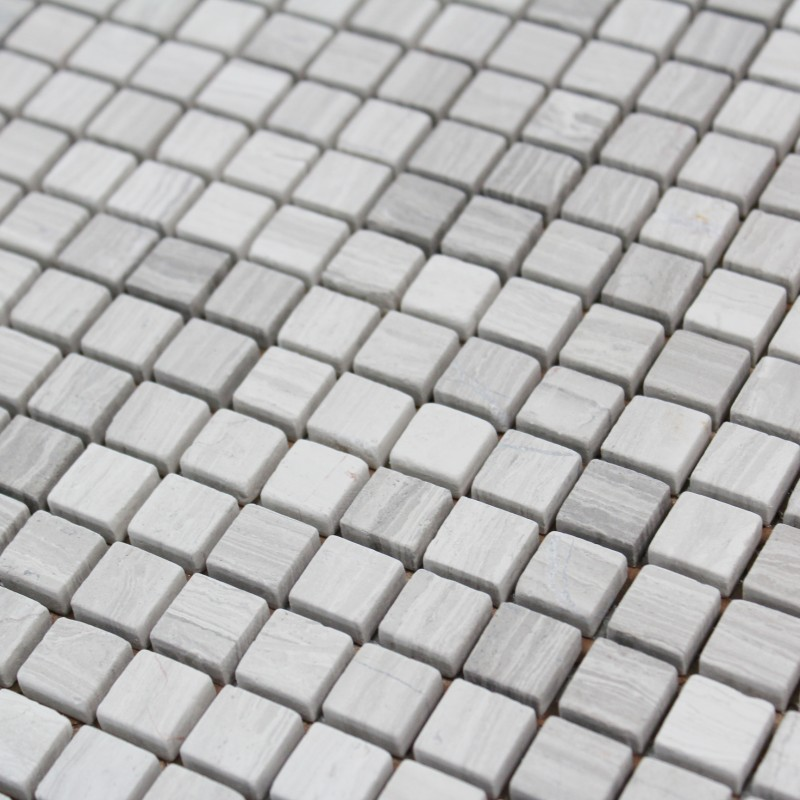 Mosa que pierre wooden grey carrelage mosaique pas cher for Carrelage mosaique pas cher