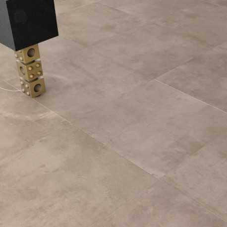 Carrelage sol aspect béton Nice Tortora 60x60 cm