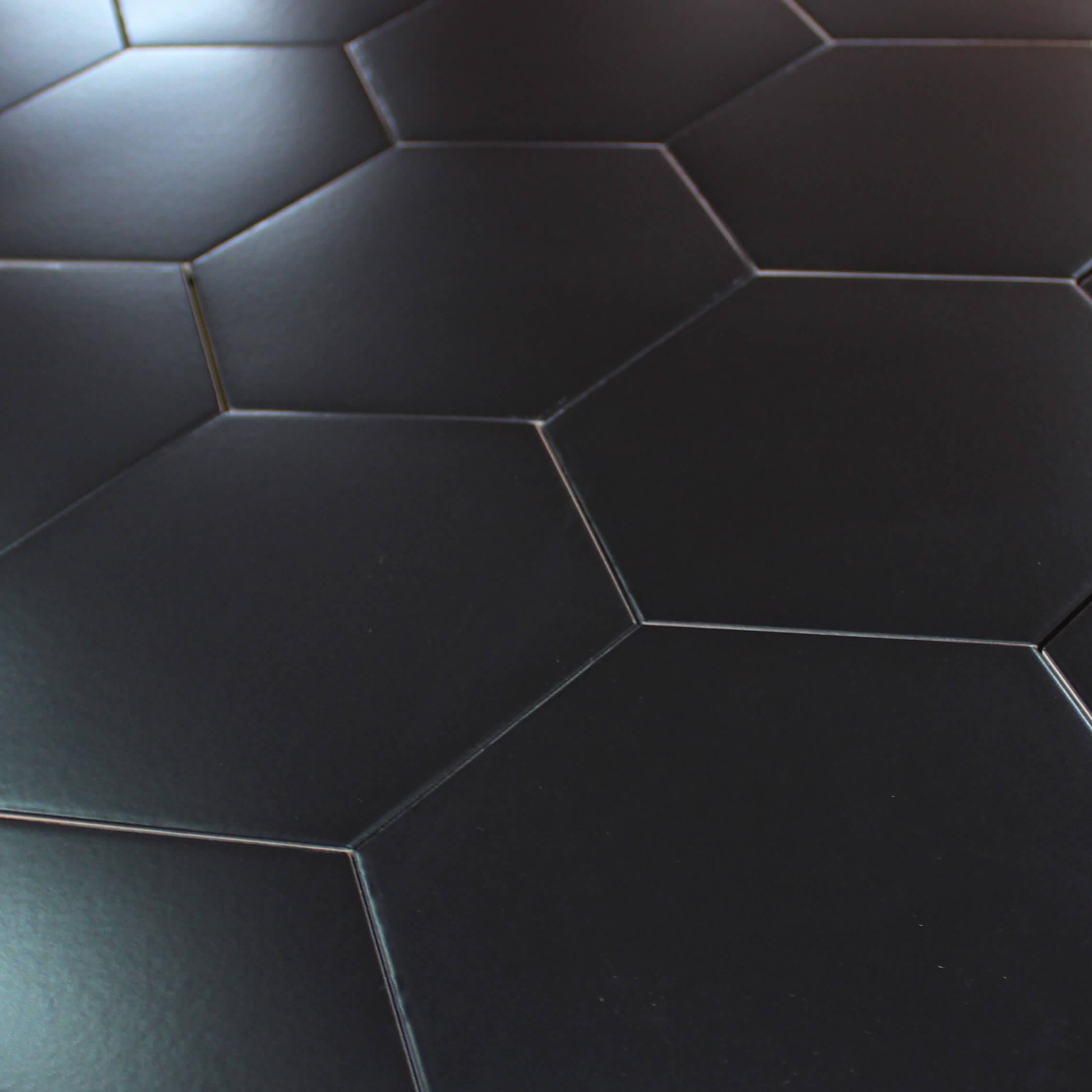 Carrelage hexagonal sol et mur Pattern Noir