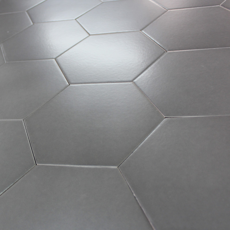 Carrelage octogonal blanc for Carrelage gris blanc