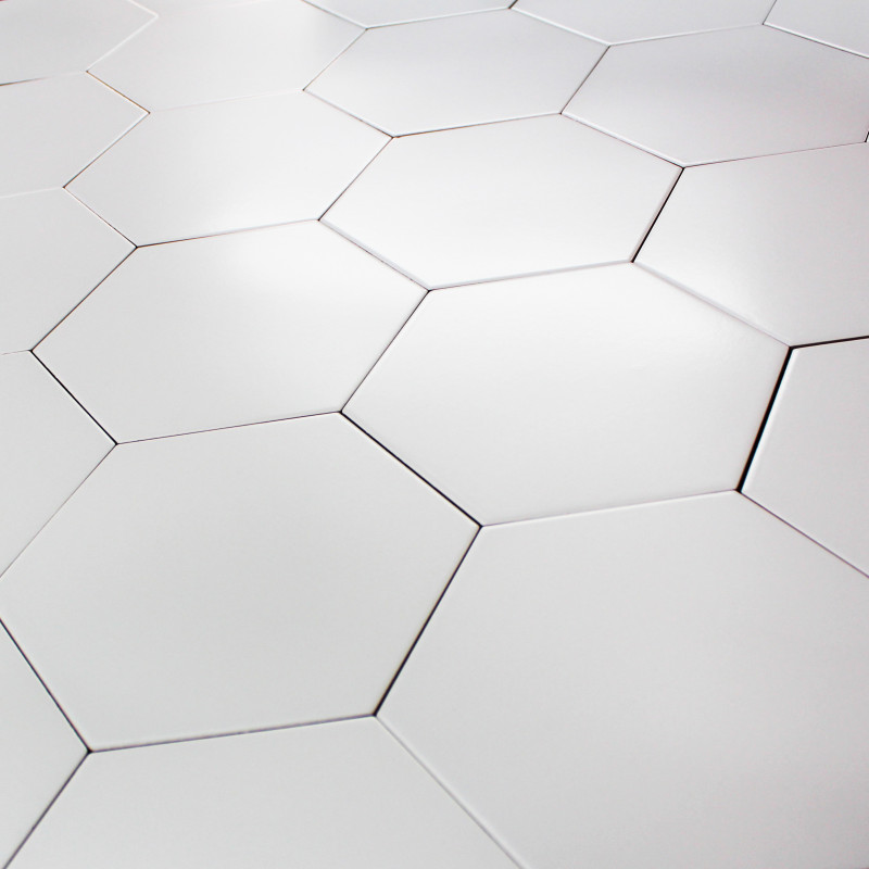 Carrelage hexagonal blanc id es de for Carrelage hexagonal blanc