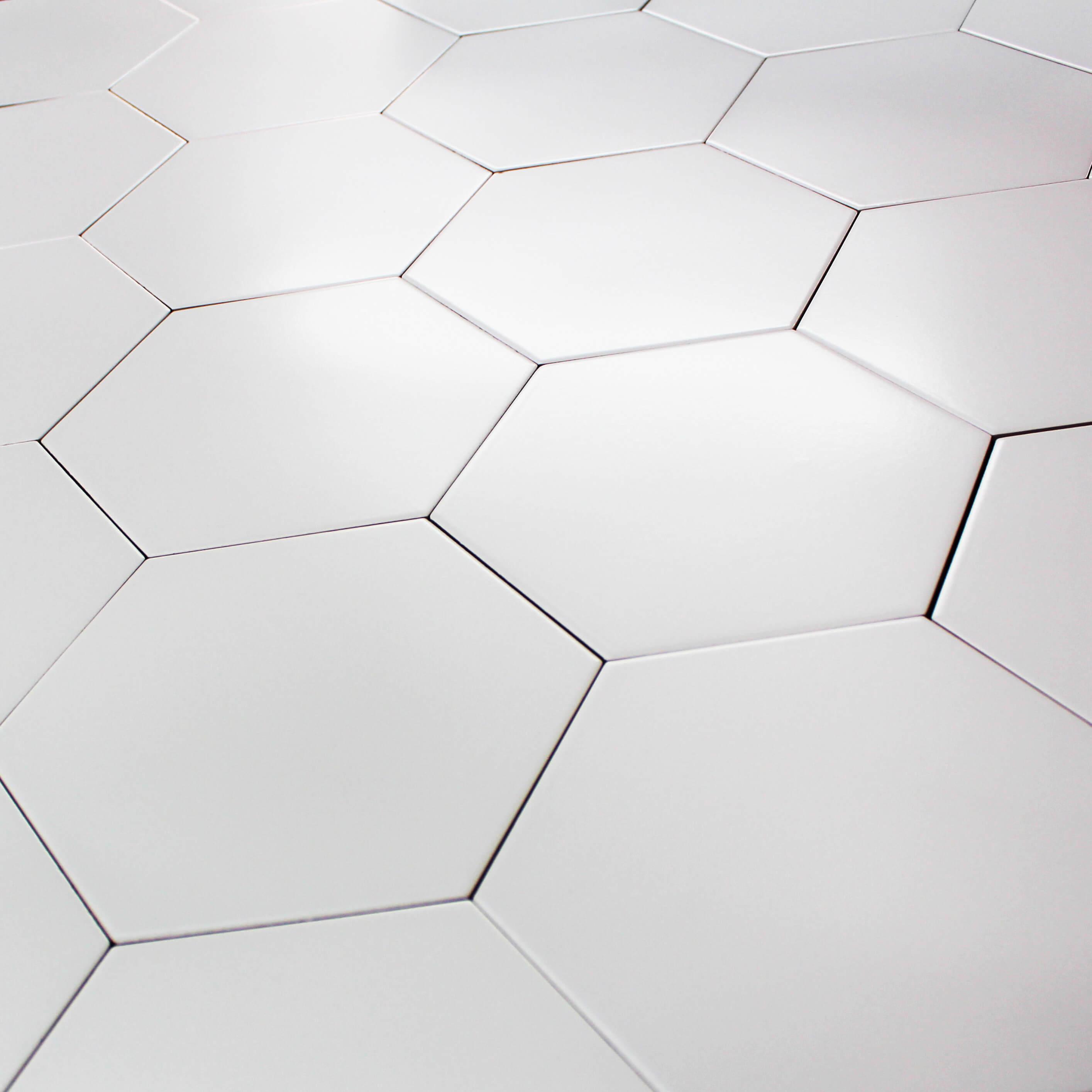 Carrelage hexagonal sol et mur Pattern Blanc