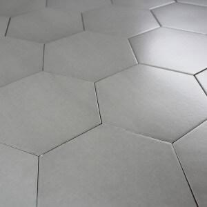 Carrelage hexagonal sol et mur Pattern Gris Classique