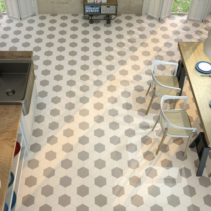 Carrelage hexagonal blanc sol et mur parquet carrelage for Carrelage hexagonal blanc