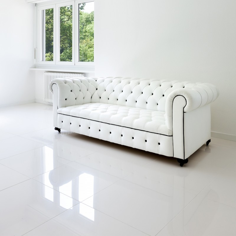 Carrelage cuisine blanc brillant for Carrelage interieur blanc