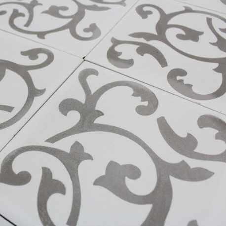 carreau ciment ronce white carrelage ciment blanc motifs. Black Bedroom Furniture Sets. Home Design Ideas