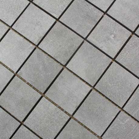 Mosaïque aspect béton mat sol et mur Nice Grigio