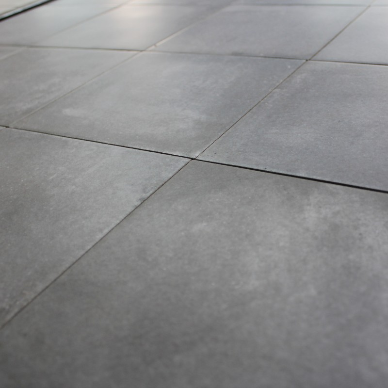 Carrelage sol aspect carreau ciment vintage anthracite for Carreau carrelage