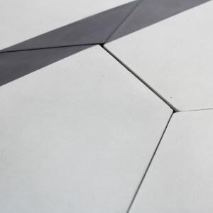 Carreau ciment hexagone triangle