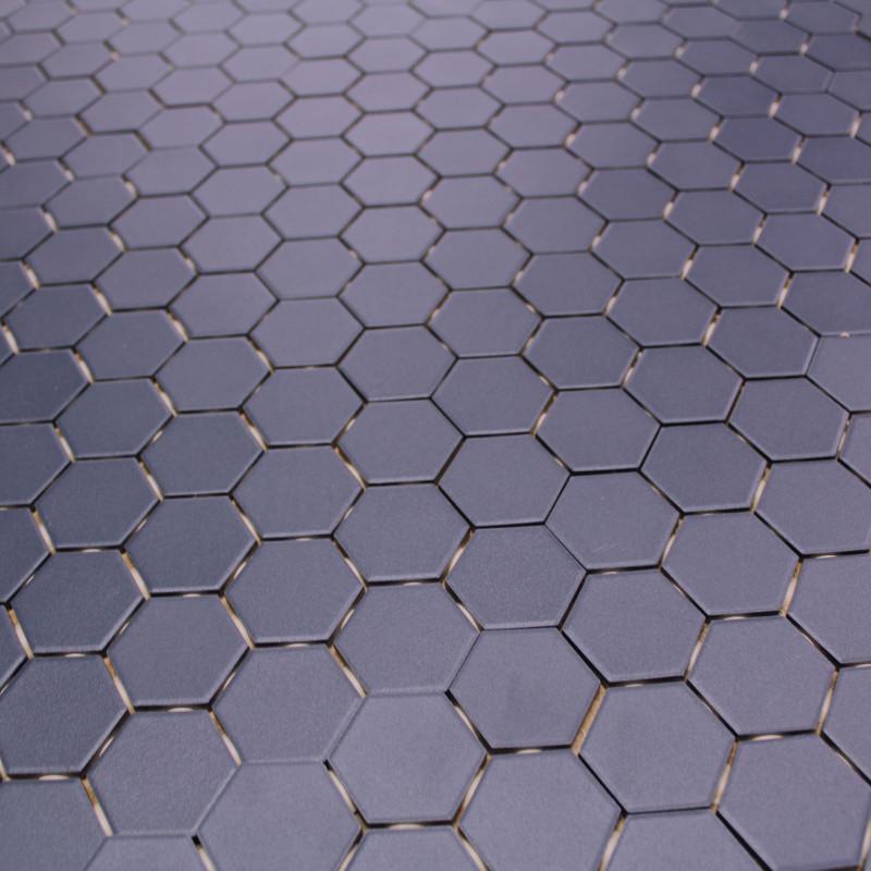 mosa que sol mur en gr s hexagone bleu carrelage mosaique hexagonal. Black Bedroom Furniture Sets. Home Design Ideas