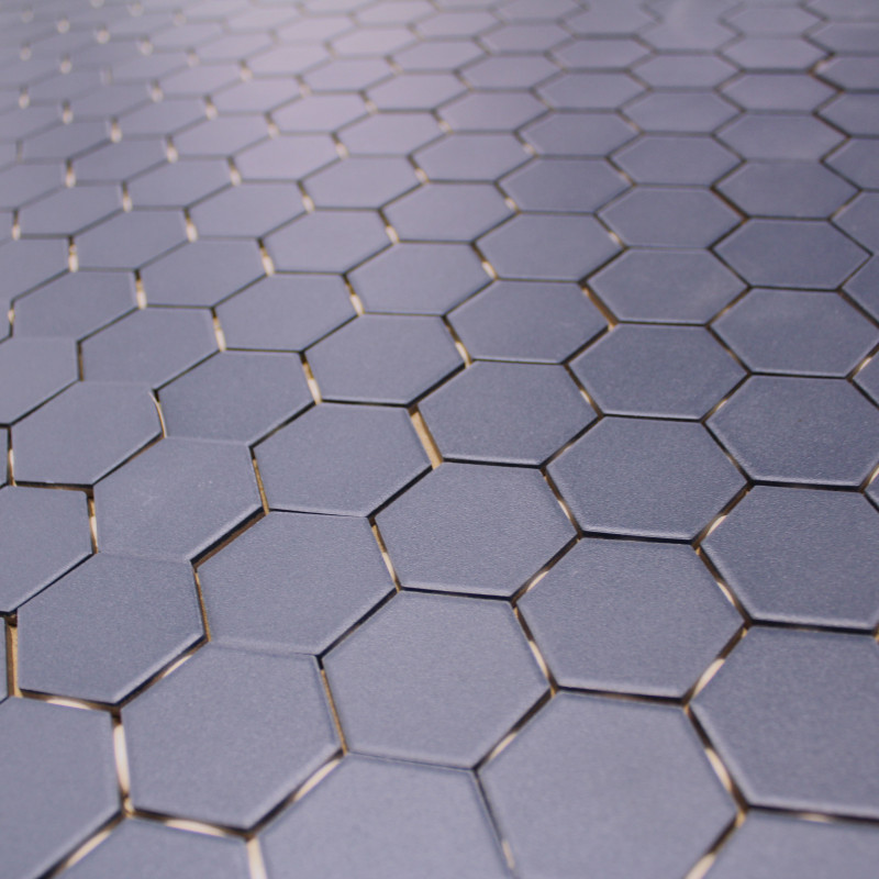 mosa que sol mur en gr s hexagone bleu carrelage mosaique hexagonal. Black Bedroom Furniture Sets. Home Design Ideas