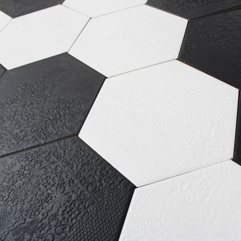 carrelage hexagonal blanc milano white sol et mur parquet carrelage. Black Bedroom Furniture Sets. Home Design Ideas