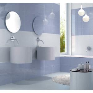 Carrelage mural Cristal bleuet