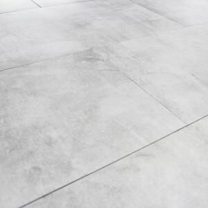 Carrelage sol et mur aspect béton Nice Bianco 60x120 cm
