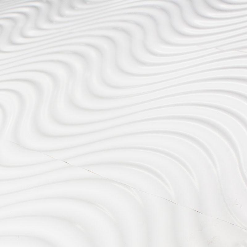 Carrelage mural annie rlv carrelage blanc relief ondul for Carrelage mural blanc