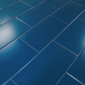 Carrelage mural bleu mat Atlantis 10x20 cm