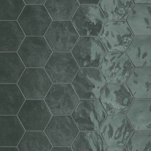 Carrelage hexagonal mur Hexa Wall Green