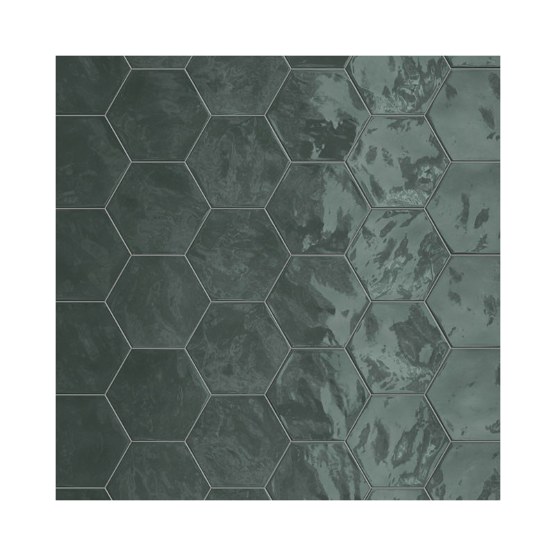 carrelage hexagonal vert glossy carrelage mural hexagone tendance. Black Bedroom Furniture Sets. Home Design Ideas