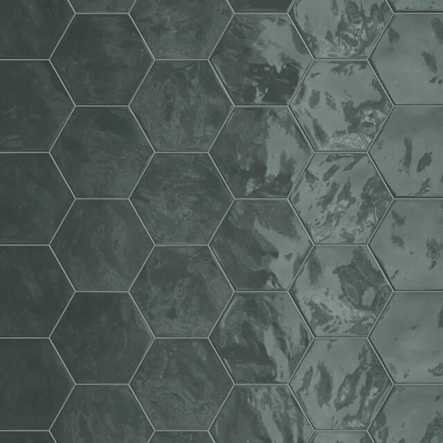 Carrelage hexagonal mur Hexa Wall Green