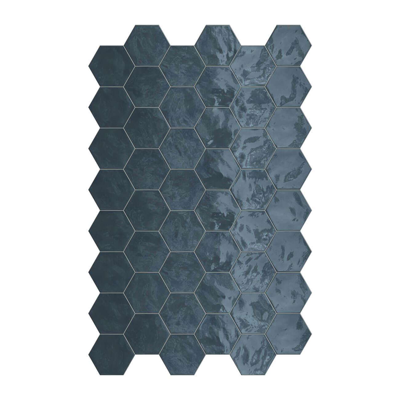 Carrelage hexagonal mur Hexa Wall Ocean