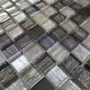 Mosaïque  mur mix tissu gris