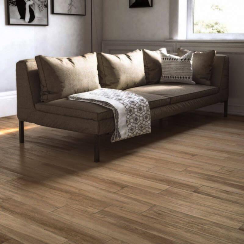 Carrelage sol aspect parquet Timber Rovere