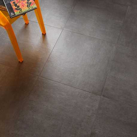 Carrelage sol aspect b ton vintage anthracite 60x60 cm for Carrelage 60x60 gris anthracite