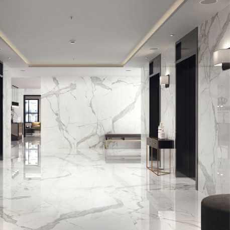 carrelage sol et mur statuario brillo 60x120 carrelage aspect marbre poli. Black Bedroom Furniture Sets. Home Design Ideas