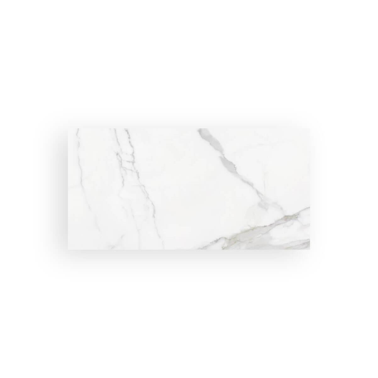 Carrelage sol aspect marbre poli Statuario Brillo 60x120