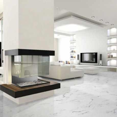 Carrelage sol aspect marbre poli Statuario Brillo 30x60