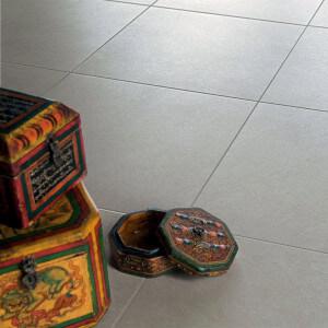 Carrelage aspect pierre sol Samsara ivoire 60x60 cm rectifié