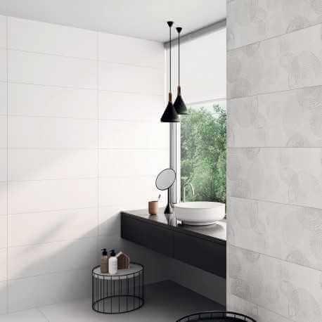 carrelage mural blanc mat 25x70 cm y ti carrelage salle de bain blanc. Black Bedroom Furniture Sets. Home Design Ideas