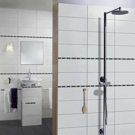 carrelage mural blanc mat 25x50 cm ice carrelage salle de bain blanc. Black Bedroom Furniture Sets. Home Design Ideas