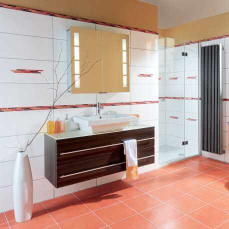 Carrelage mural blanc brillant Sibérie, carrelage salle de bain blanc