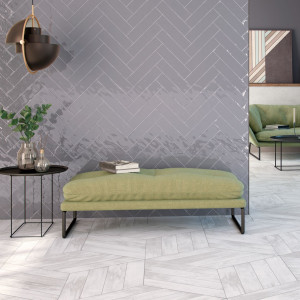 Carrelage mural gris brillant Colonial Brillo