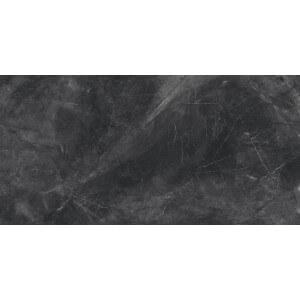 Carrelage sol aspect marbre poli noir Lotus Black