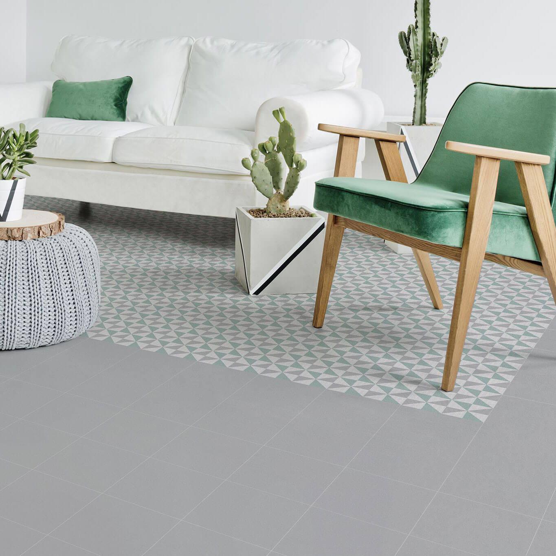 Carrelage sol et mur aspect carreau ciment multicolore bleu Mallorca Marina 25x25 cm