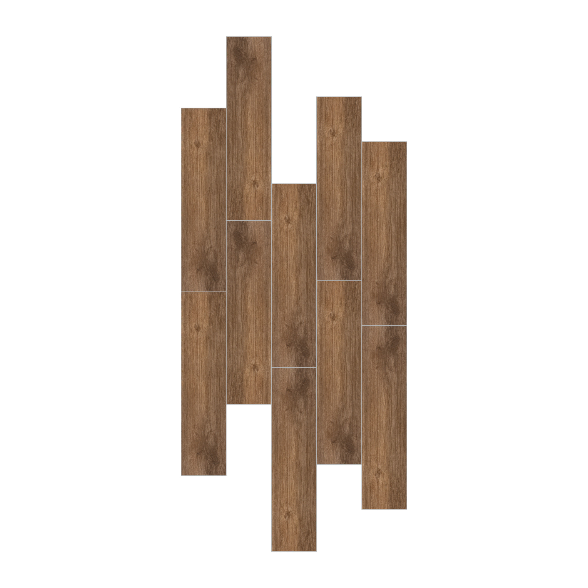 Carrelage sol et mur aspect parquet chocolat Walkyria Fresno 20x120 cm