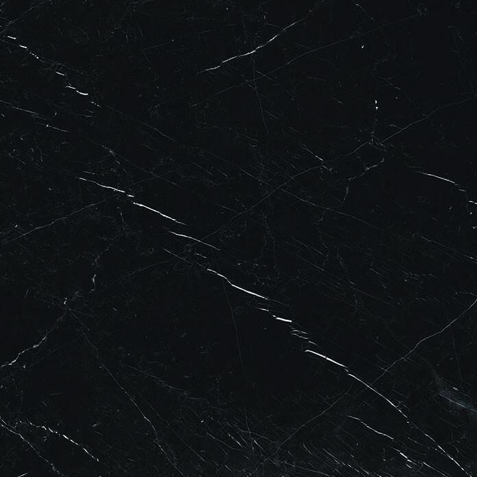Carrelage sol et mur aspect marbre noir Hypnose Saint-Laurent brillant 60x60 cm