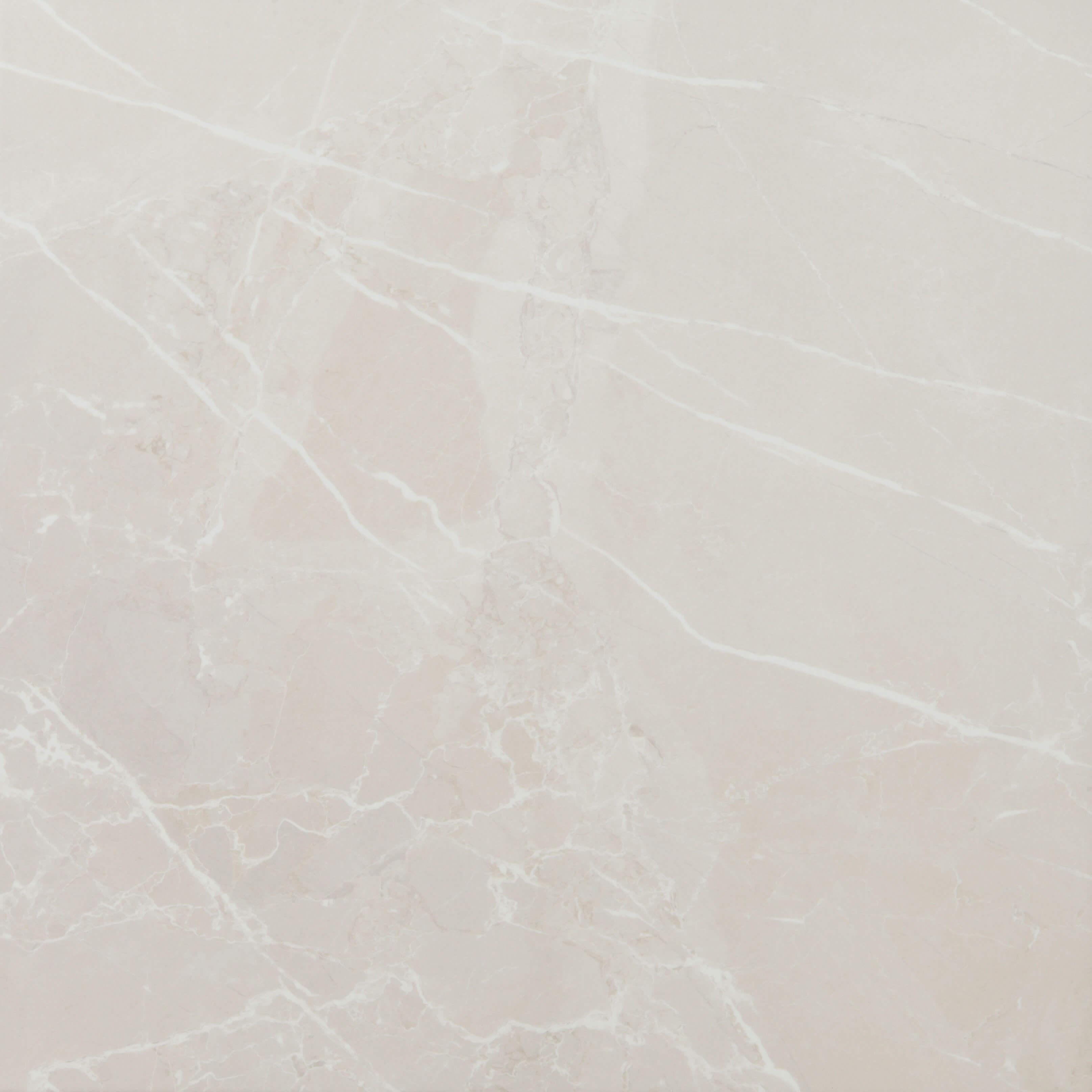Carrelage sol poli Museum Ivory aspect marbre