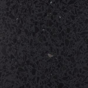 Carrelage sol et mur Terrazzo marbre naturel noir Nero Ebano 60x60 cm adouci rectifié