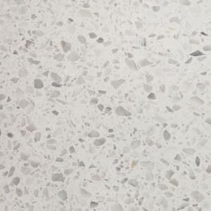 Carrelage sol et mur Terrazzo marbre naturel blanc gris et noir Esco 60x60 cm adouci rectifié