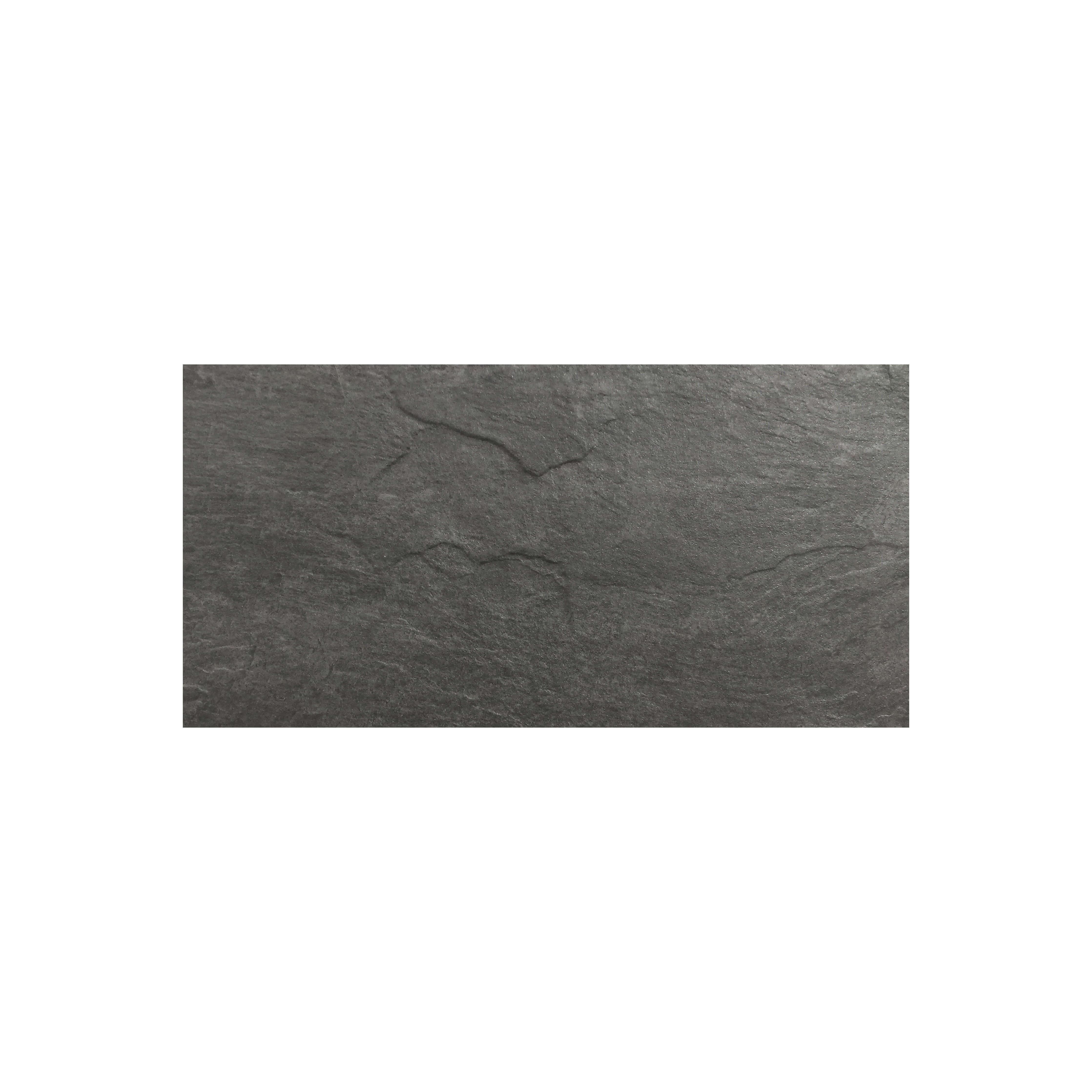 Carrelage sol et mur extérieur aspect ardoise anthracite Brio Ardoise antidérapant 30x60 cm