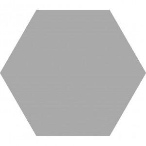 Carrelage hexagonal sol et mur Element Gris Acero mat aspect tomette 23x27 cm