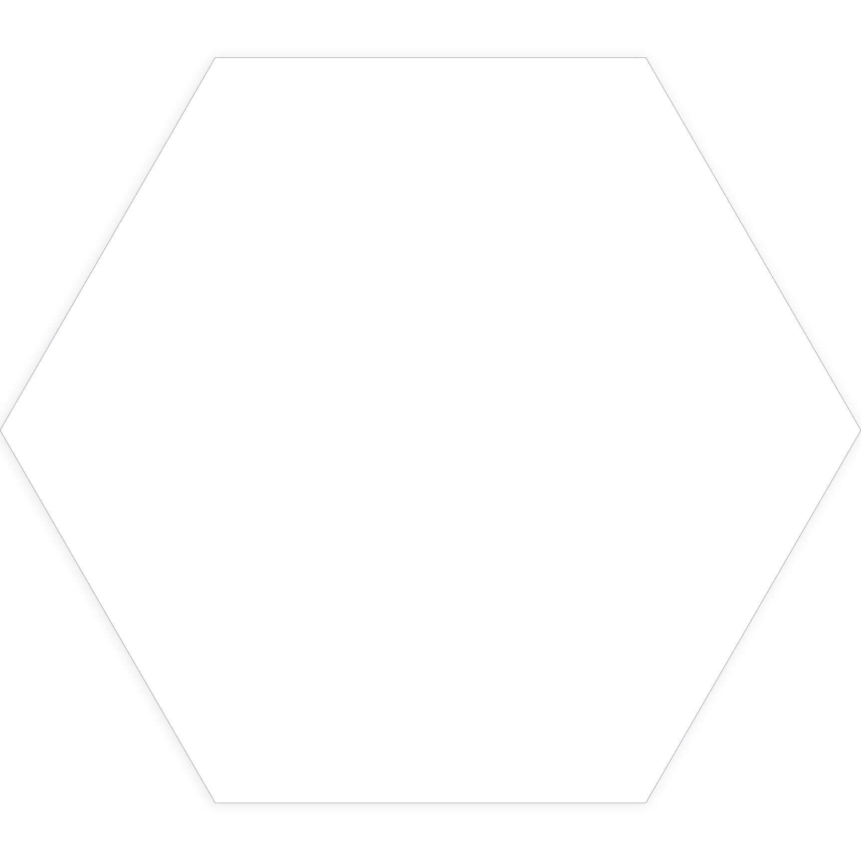 Carrelage hexagonal sol et mur Element Blanc mat aspect tomette 23x27 cm