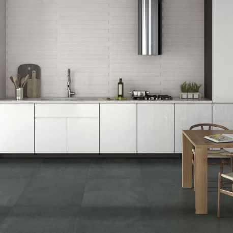 Carrelage sol et mur aspect béton gris Public Anthracite 60x60 cm rectifié