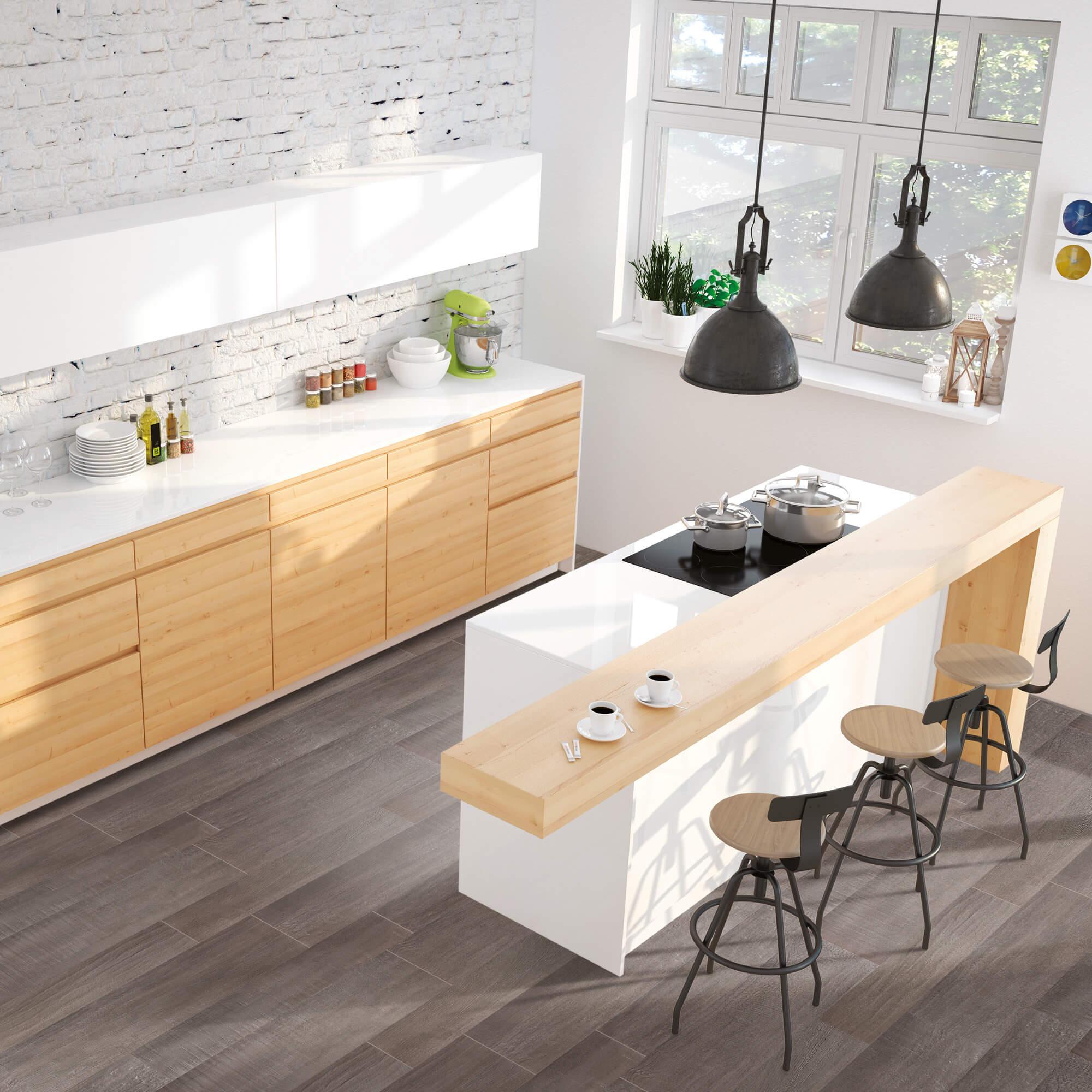 Carrelage sol et mur aspect parquet naturel Beton Wood Clay 15x90 cm